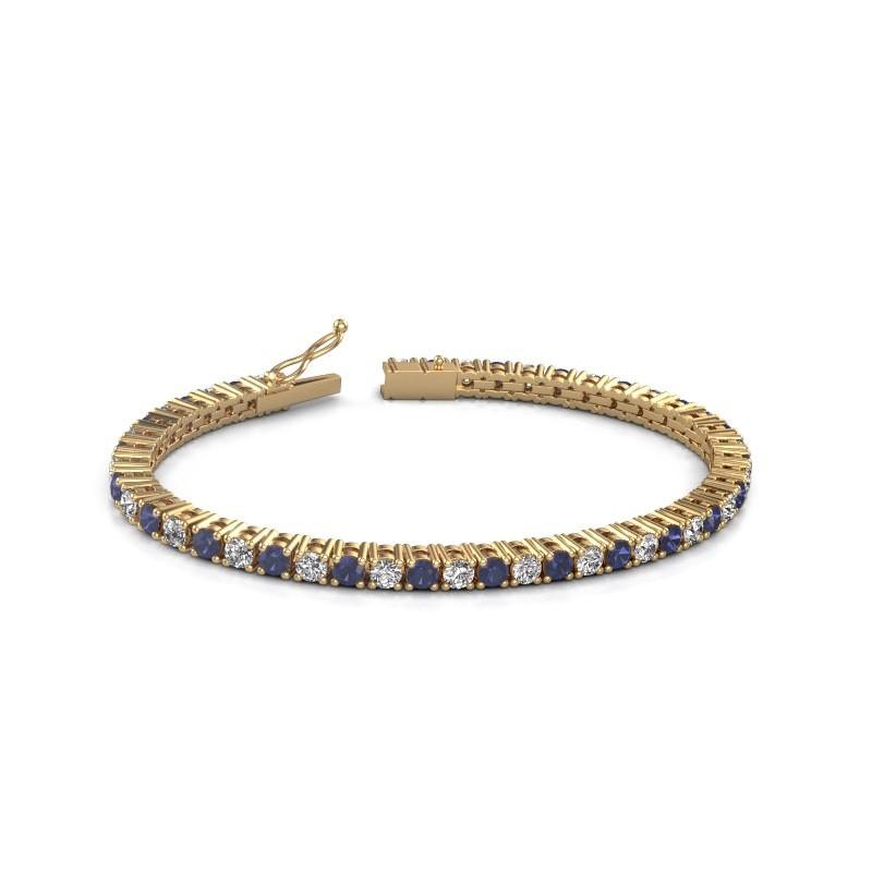 Tennisarmband Jenny 375 goud diamant 4.32 crt