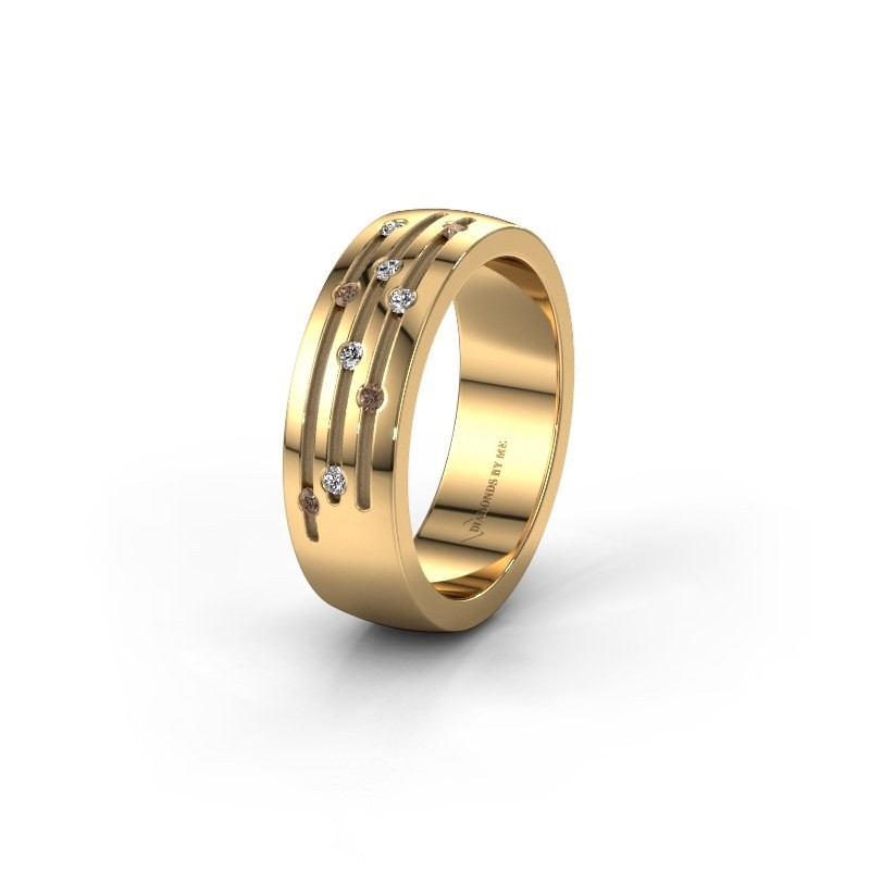 Ehering WH0134L26B 585 Gold Braun Diamant ±6x2 mm