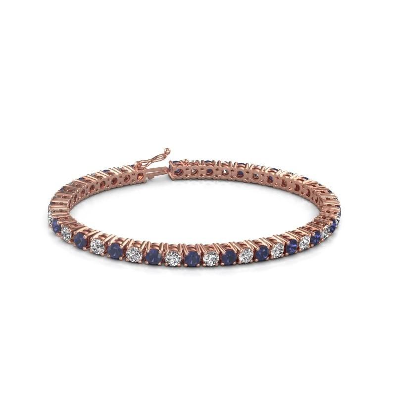 Tennis bracelet Karin 375 rose gold sapphire 4 mm