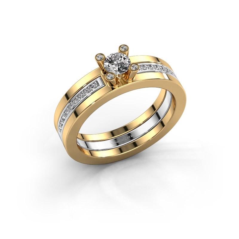 Ring Alisha 585 goud diamant 0.36 crt