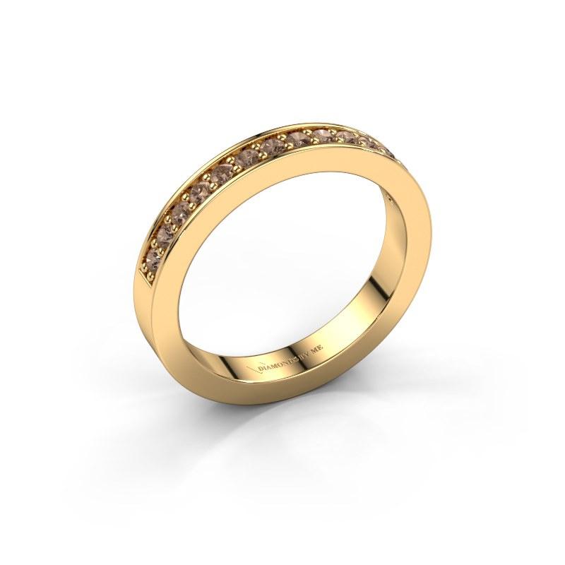 Aanschuifring Loes 6 585 goud bruine diamant 0.28 crt