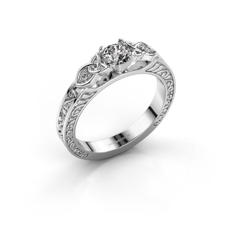 Engagement ring Gillian 585 white gold diamond 0.42 crt