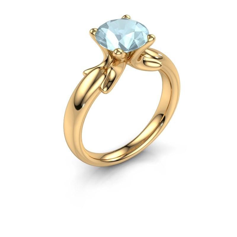 Ring Jodie 585 Gold Aquamarin 8 mm