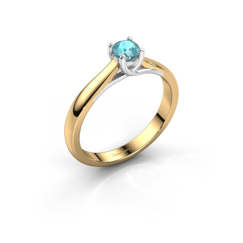 Engagement ring Mia 1 585 gold blue topaz 4 mm
