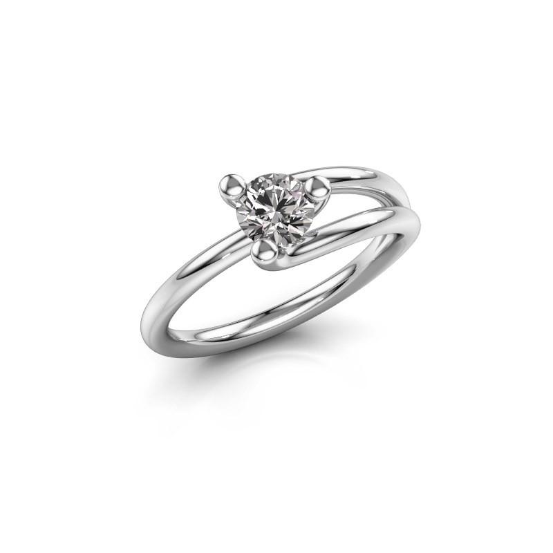 Verlovingsring Roosmarijn 950 platina diamant 0.50 crt