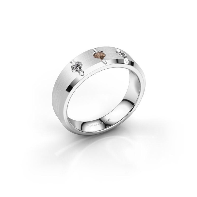 Herrenring Remco 925 Silber Braun Diamant 0.24 crt