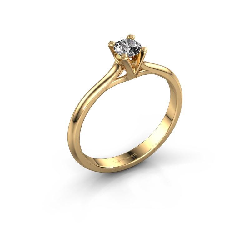 Verlovingsring Isa 1 585 goud diamant 0.25 crt