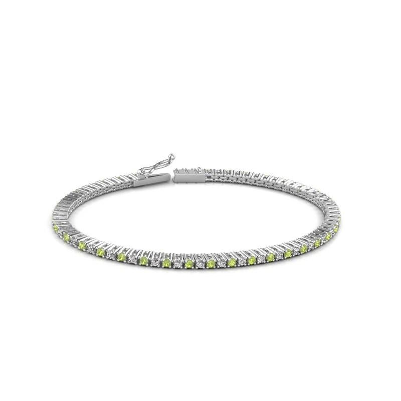 Tennis bracelet Simone 585 white gold peridot 2 mm