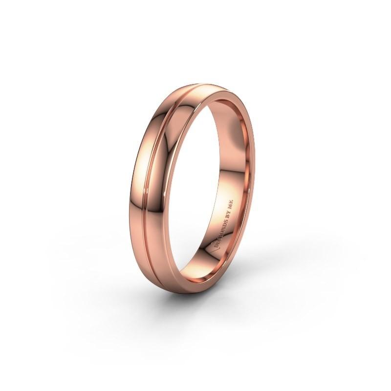 Trouwring WH0254M24X 585 rosé goud ±4x1.5 mm