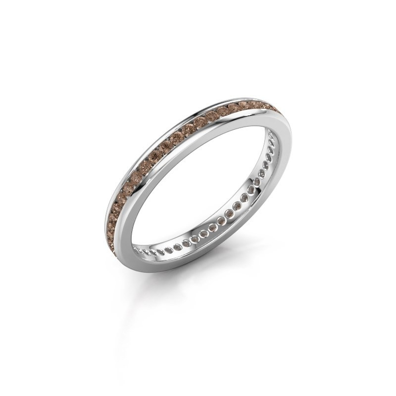Aanschuifring Lura 1 925 zilver bruine diamant 0.49 crt
