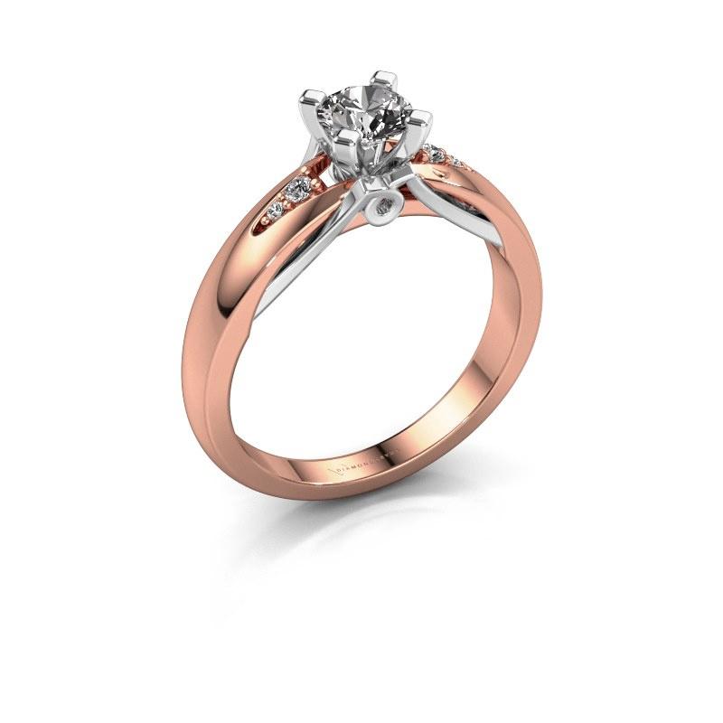 Engagement ring Ize 585 rose gold diamond 0.446 crt