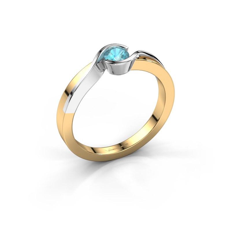 Ring Lola 585 gold blue topaz 4 mm