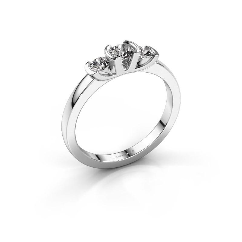 Bague Lucia 950 platine diamant synthétique 0.40 crt