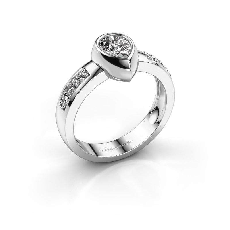 Ring Charlotte Pear 585 white gold lab-grown diamond 0.80 crt