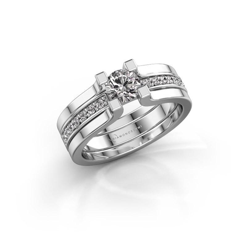 Verlovingsring Myrthe 585 witgoud lab-grown diamant 0.668 crt