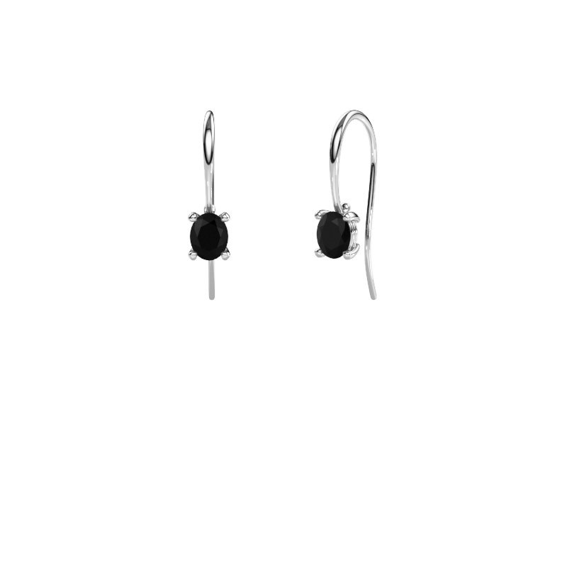 Drop earrings Cleo 375 white gold black diamond 1.20 crt