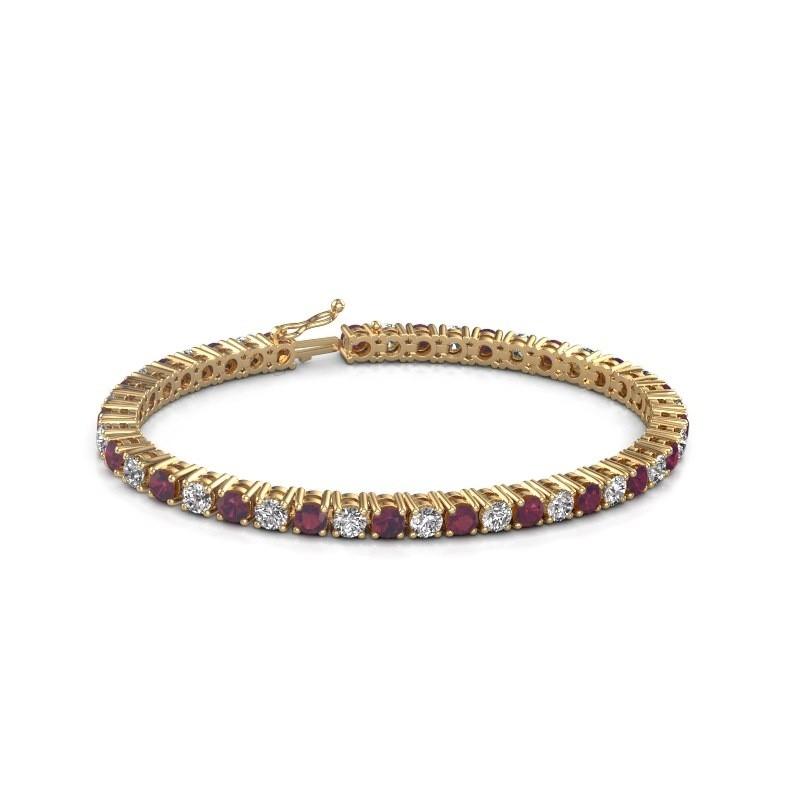 Tennis bracelet Karin 585 gold rhodolite 4 mm