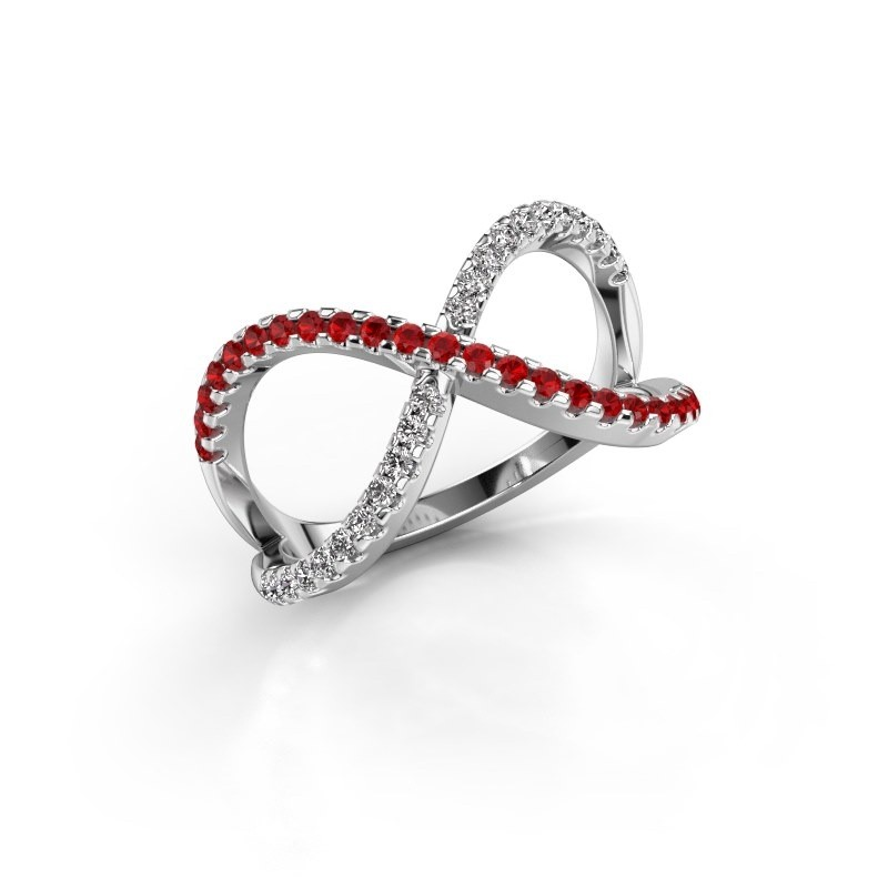 Ring Alycia 2 950 platinum ruby 1.3 mm