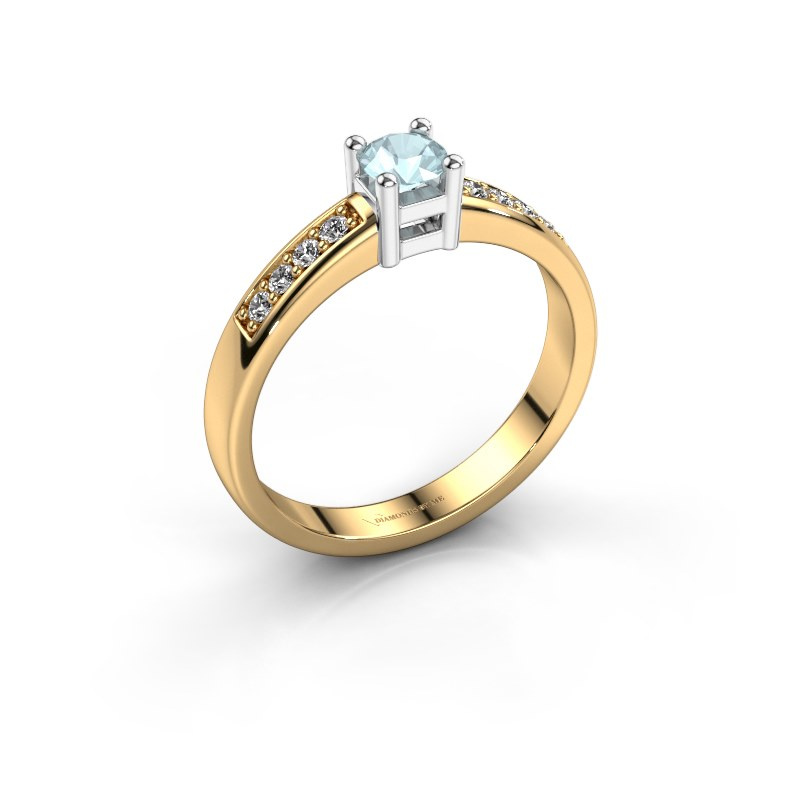Engagement ring Eline 2 585 gold aquamarine 3.7 mm