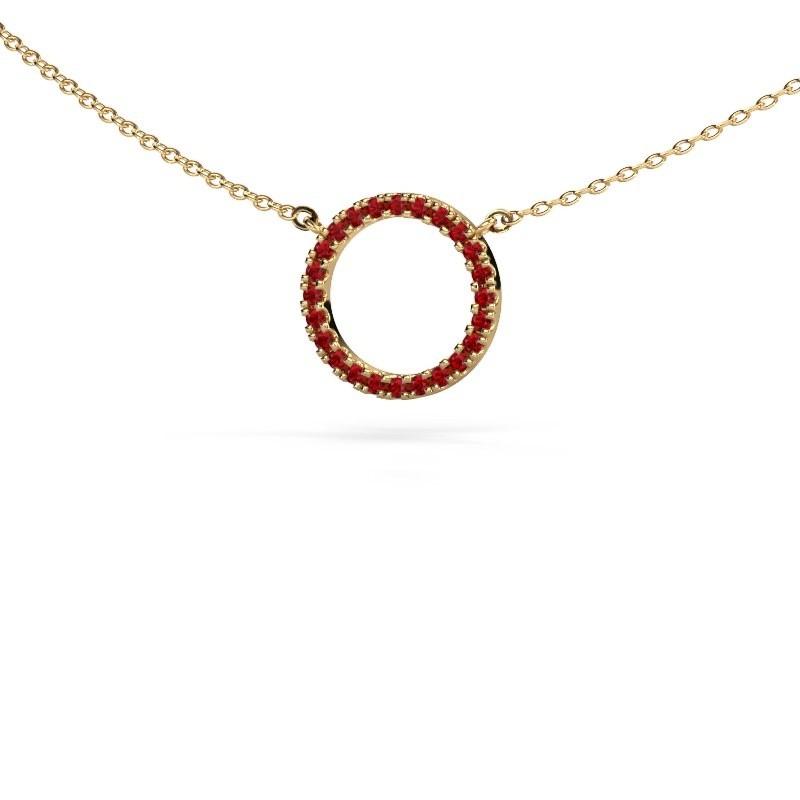 Hanger Circle 375 goud robijn 1.2 mm