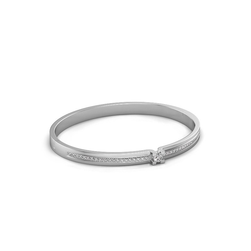 Bracelet Myrthe 585 white gold zirconia 4 mm
