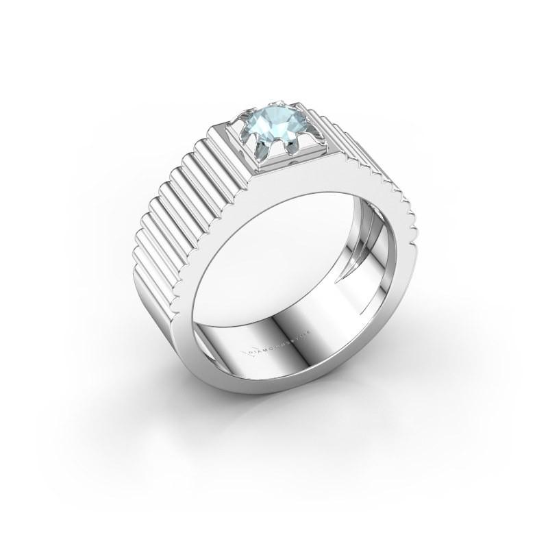 Pinky Ring Elias 925 Silber Aquamarin 5 mm