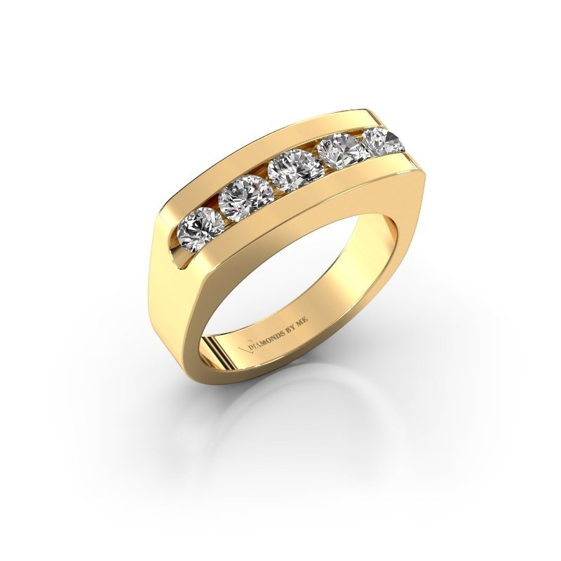 Heren ring Richard 375 goud zirkonia 4 mm