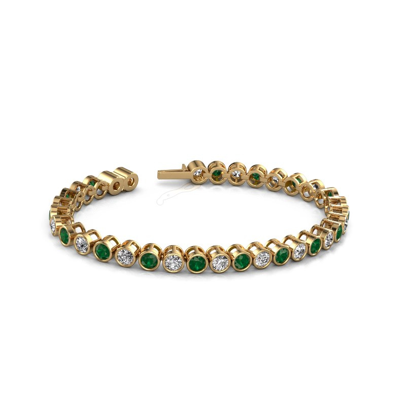 Tennisarmband Allegra 4 mm 375 goud smaragd 4 mm