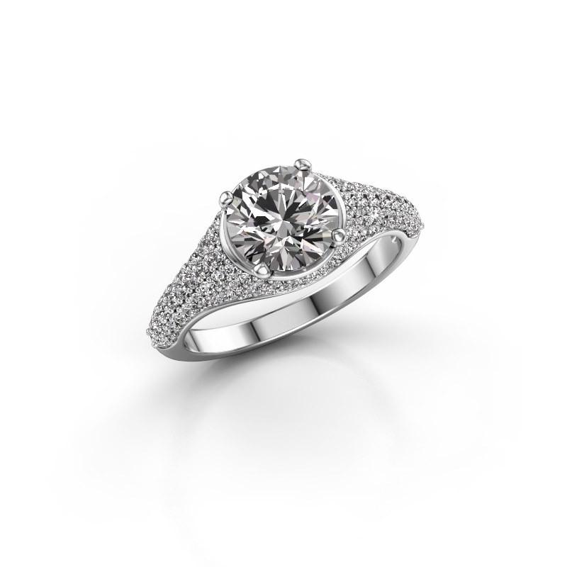 Verlovingsring Lovella 585 witgoud lab-grown diamant 1.929 crt