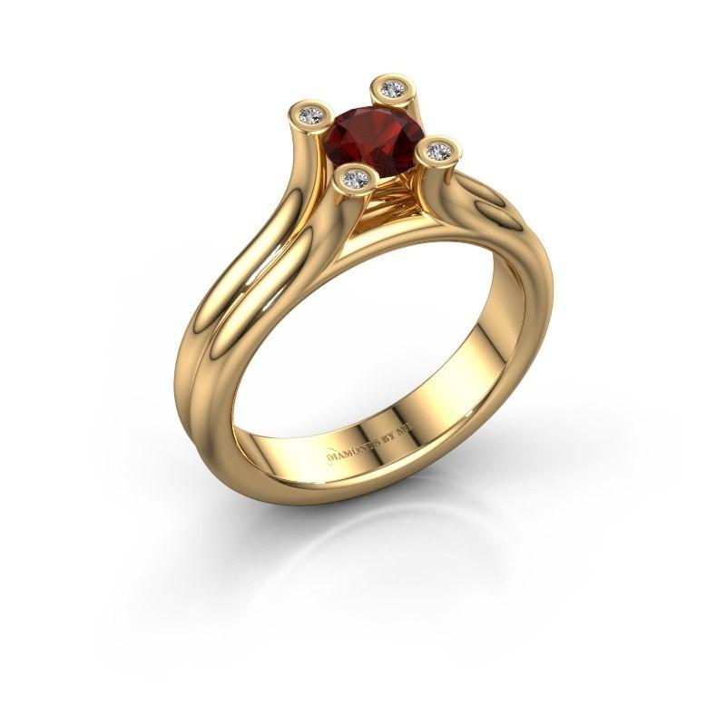 Belofte ring Stefanie 1 585 goud granaat 5 mm