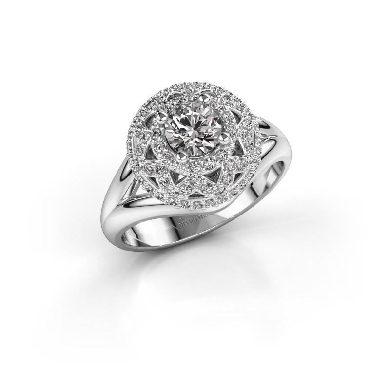 Ring Leonora 585 white gold diamond 0.88 crt