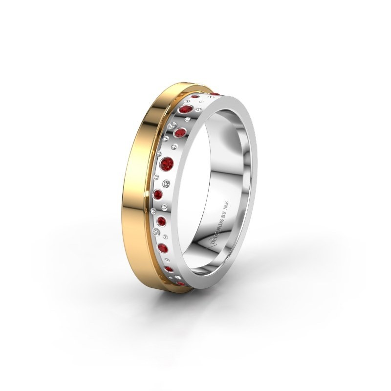 Wedding ring WH6016L15E 585 white gold ruby ±0.20x0.1in
