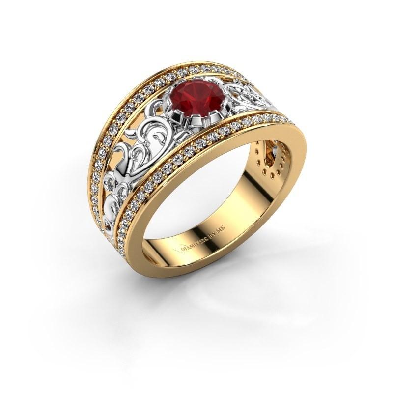Ring Marilee 585 goud robijn 5 mm