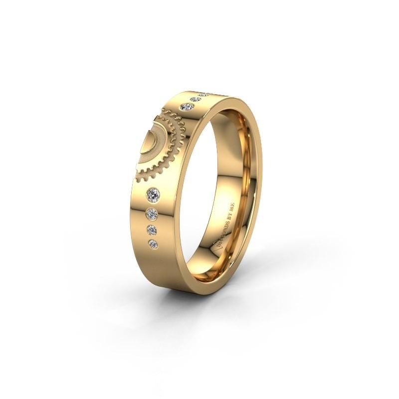 Trouwring WH2116L25A 585 goud zirkonia ±5x1.7 mm