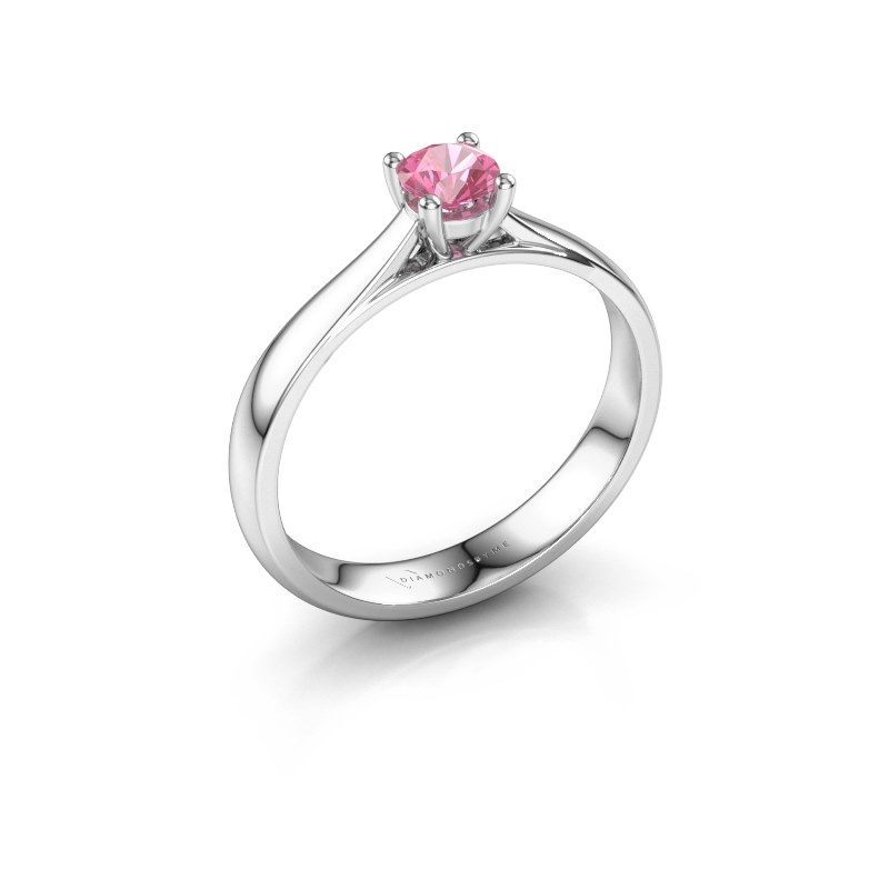 Engagement ring Sam 925 silver pink sapphire 4.2 mm