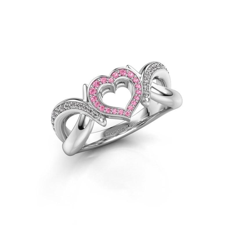 Ring Earlie 2 925 Silber Pink Saphir 1.1 mm