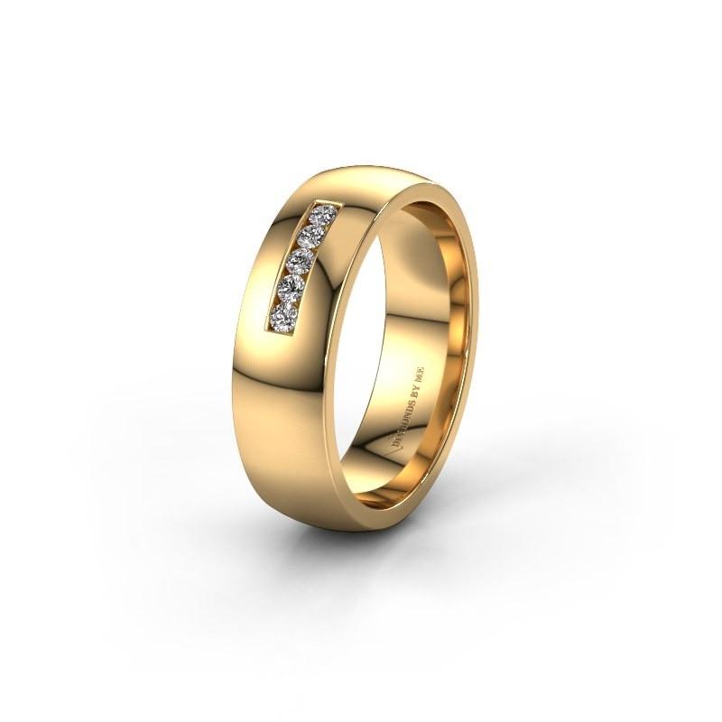Alliance WH0107L26BP 585 or jaune diamant synthétique ±6x2 mm