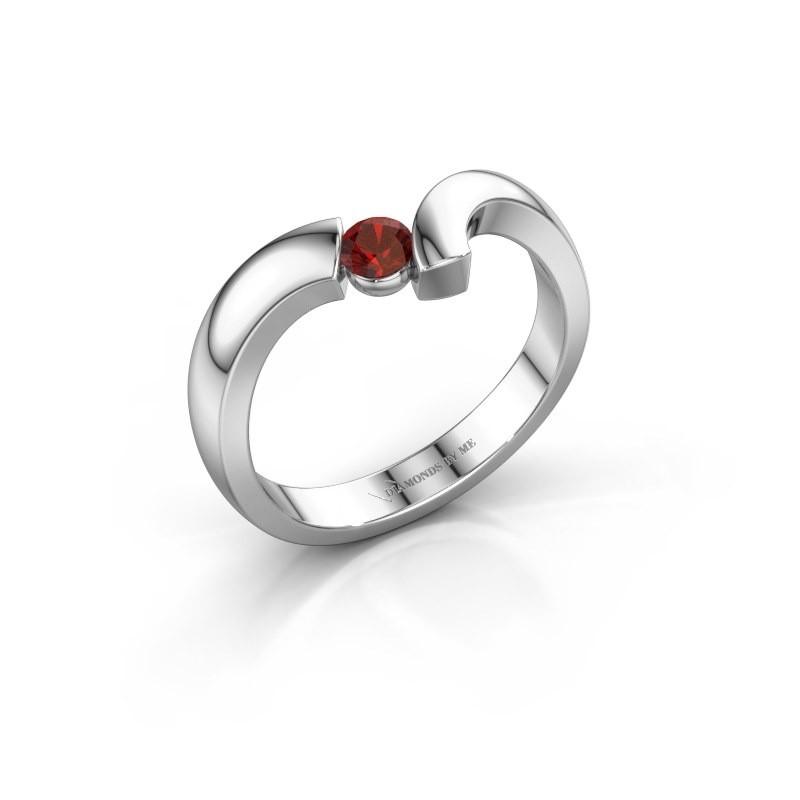Ring Arda 925 zilver granaat 3.4 mm