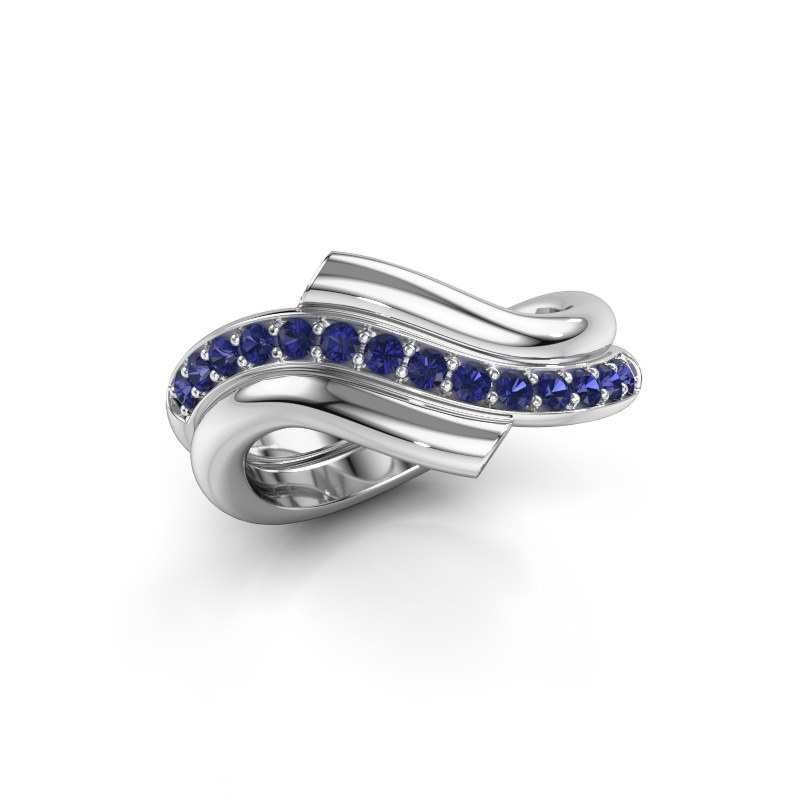 Ring Guusje 925 silver sapphire 1.8 mm