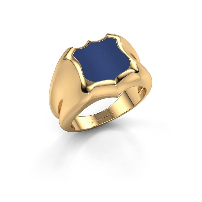 Zegelring Nevin 585 goud lapis lazuli 12x12 mm