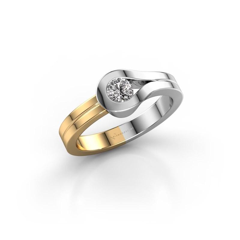 Bague Kiki 585 or blanc diamant 0.25 crt