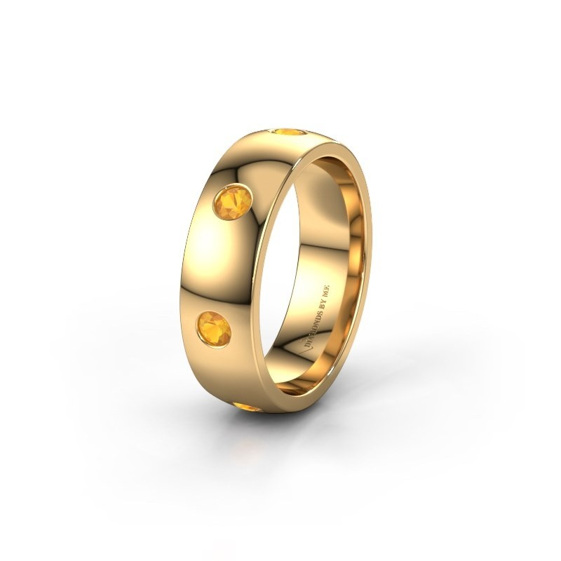 Wedding ring WH0105L26BP 375 gold citrin ±0.24x0.08 in