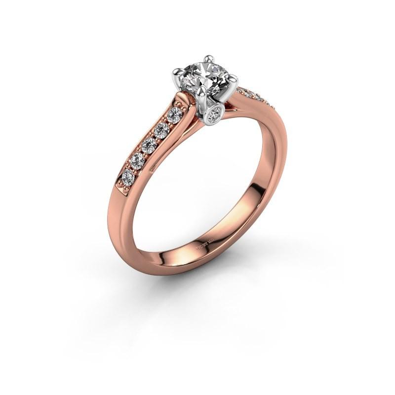 Bague de fiançailles Valorie 2 585 or rose diamant 0.40 crt