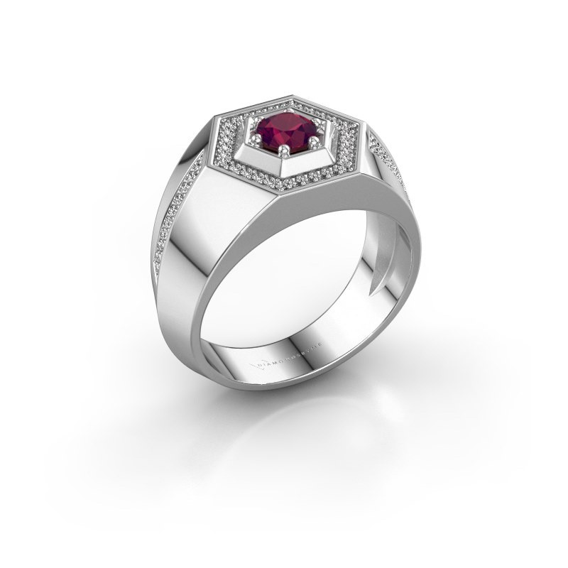 Men's ring Sjoerd 925 silver rhodolite 4.7 mm