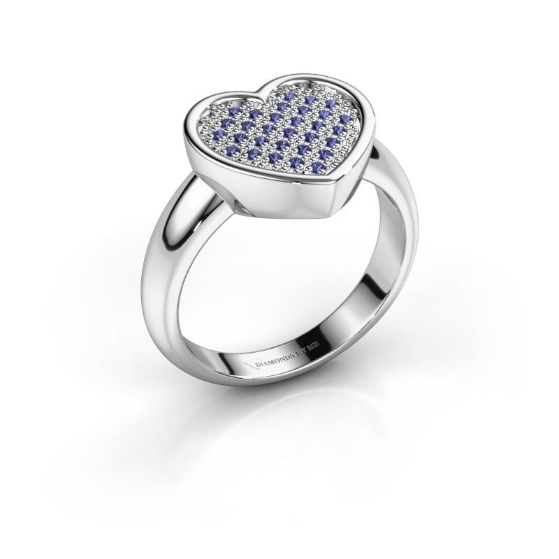 Ring Veerle 925 zilver saffier 1 mm