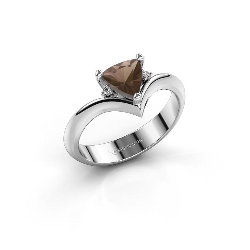 Ring Arlette 950 platina rookkwarts 7 mm