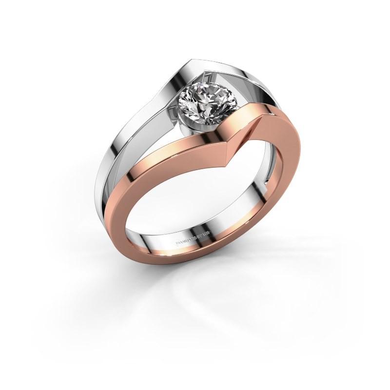 Ring Elize 585 rosé goud diamant 0.50 crt