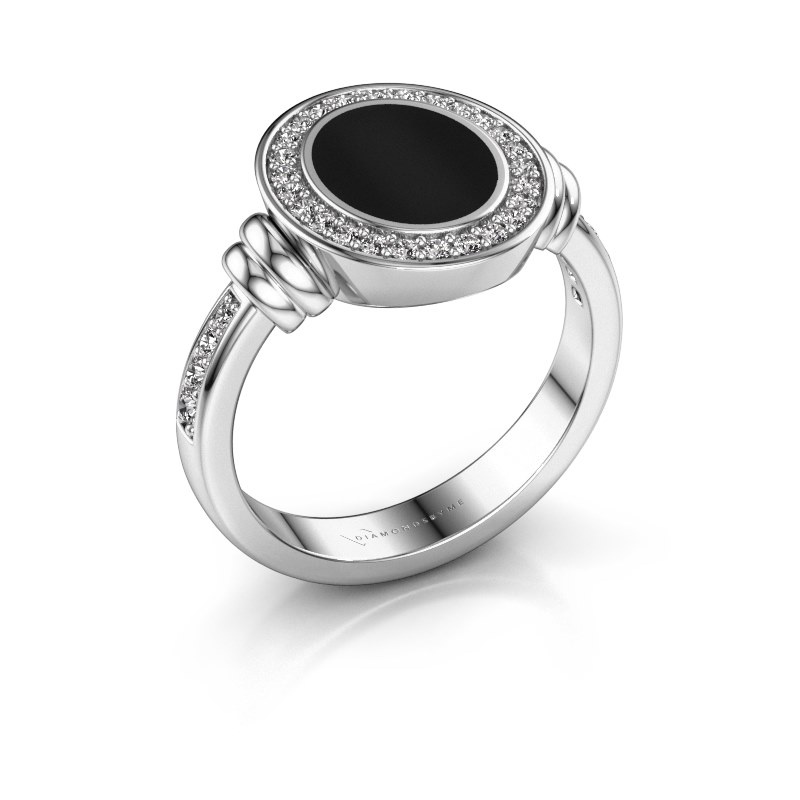 Signet ring Bailey 950 platinum onyx 10x8 mm