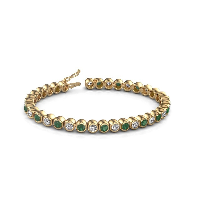 Tennis bracelet Bianca 375 gold emerald 4 mm