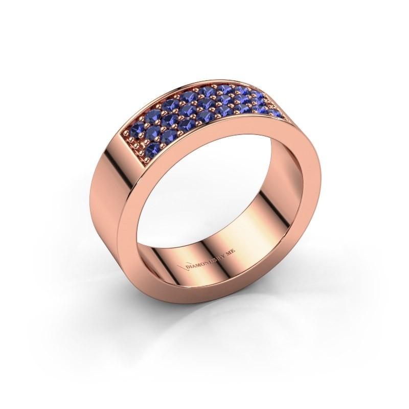 Ring Lindsey 5 375 rosé goud saffier 1.7 mm